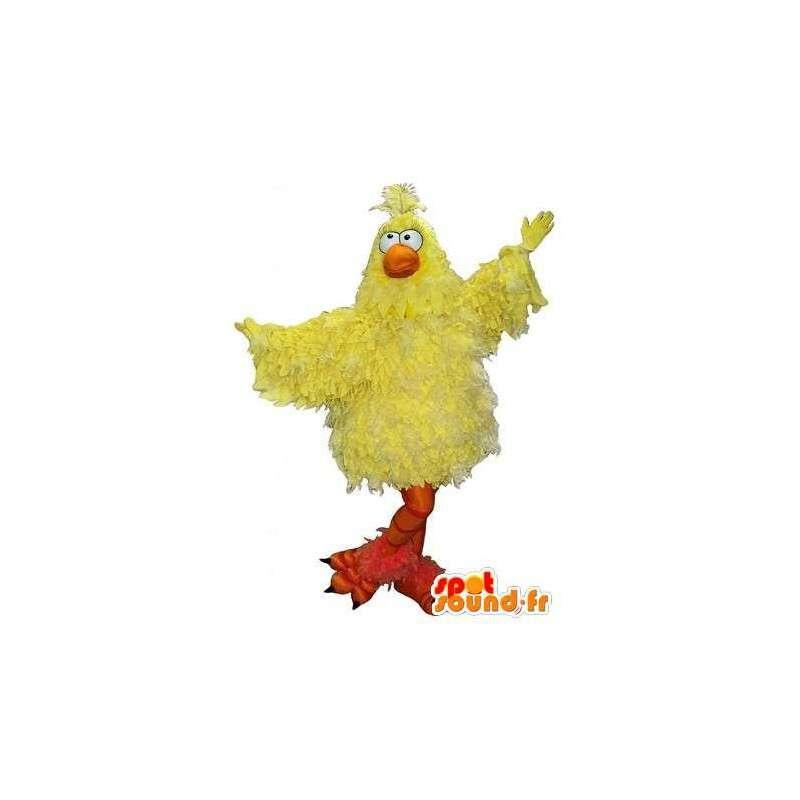 Geel kuiken vermomming vluchtige mascotte - MASFR001717 - Mascot Hens - Hanen - Kippen