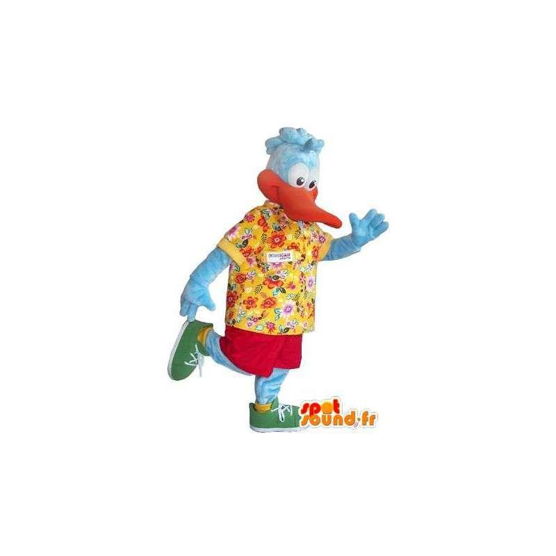 Mascotte de canard en tenue hawaïenne, déguisement de touriste - MASFR001721 - Mascotte de canards