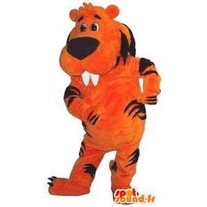 Mascotte représentant un castor tigre, déguisement de tigre