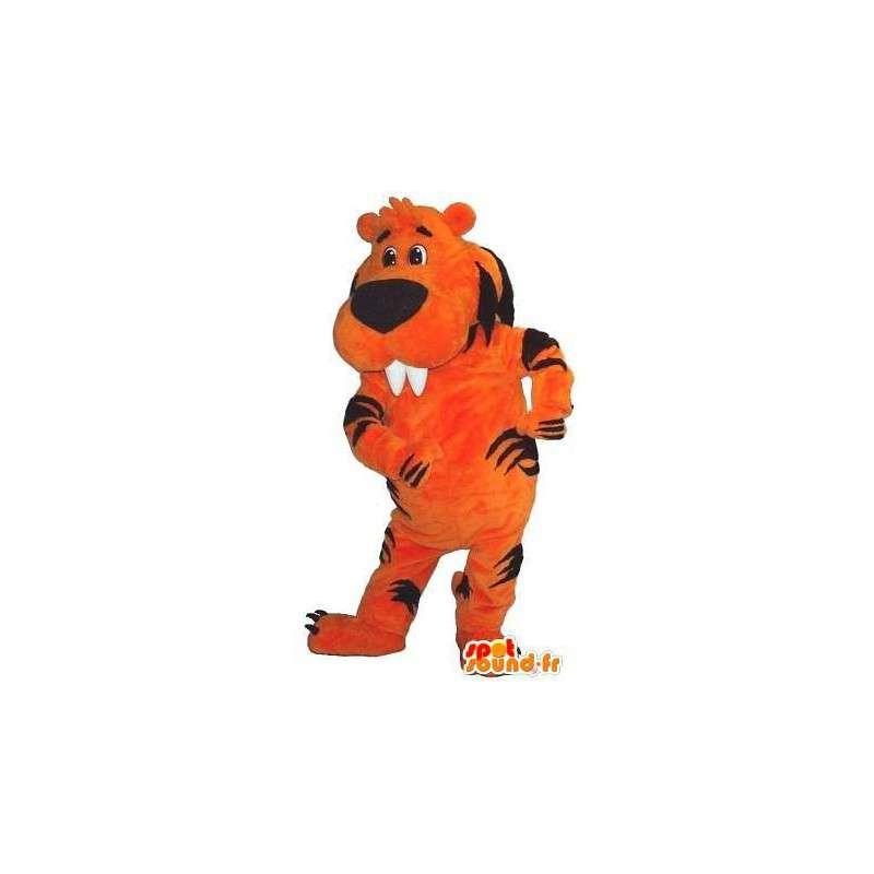 Beaver Maskottchen von einem Tiger-Kostüm Tiger - MASFR001724 - Tiger Maskottchen