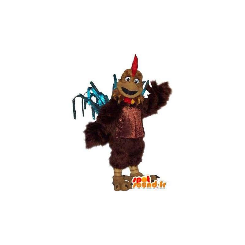 Mascotte représentant un coq costaud, déguisement d'athlète - MASFR001726 - Mascotte de Poules - Coqs - Poulets