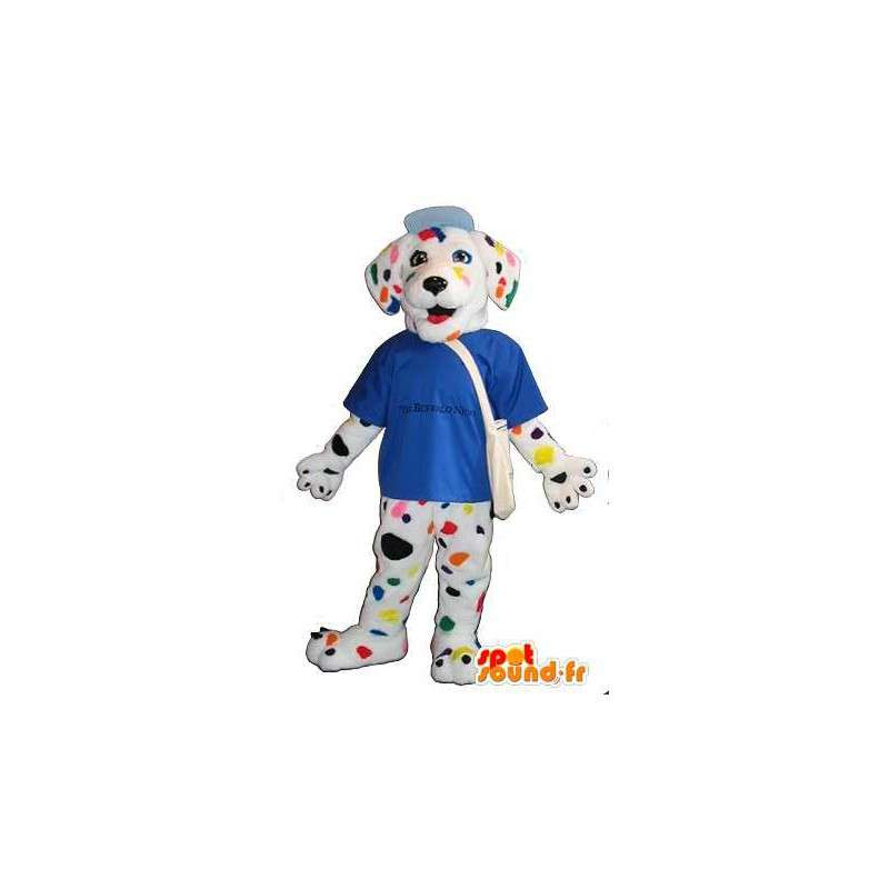 Dalmatische mascotte veelkleurige hond kostuum - MASFR001727 - Dog Mascottes