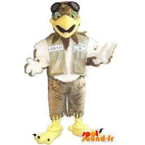 Eagle-Maskottchen die ein Pilot Pilotenkostüm