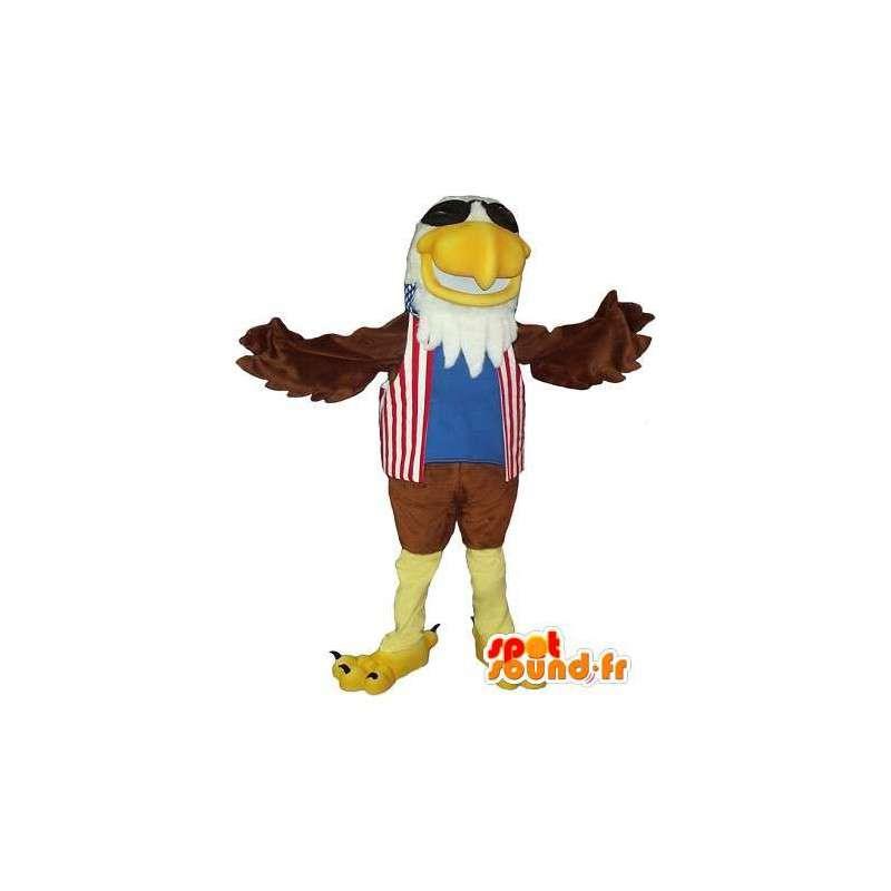 Mascot que representa un águila real, traje americano - MASFR001731 - Mascota de aves