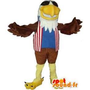 Mascot representerer en kongelig ørn, amerikansk drakt - MASFR001731 - Mascot fugler