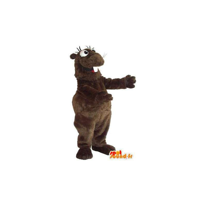 Lustige Hamster Maskottchen Kostüm Nagetier - MASFR001736 - Tierische Maskottchen