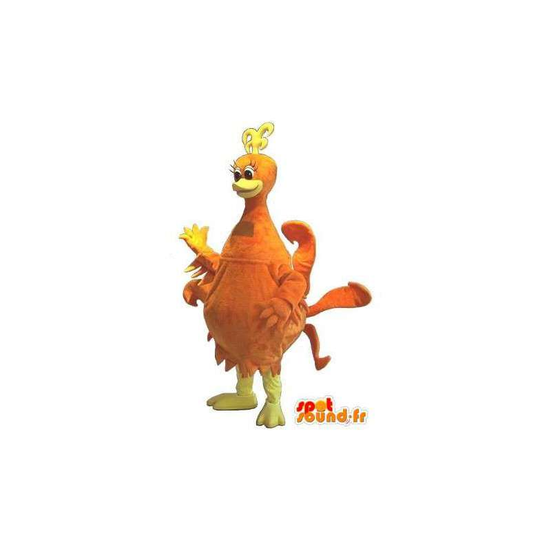 Mascotte de poule de couleur orange, déguisement de poule - MASFR001739 - Mascottes Animales