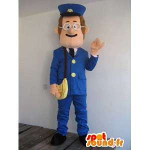 Male Factor Mascot Post - Postal Disguise - Fast shipping - MASFR00156 - man Mascottes