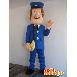Mascotte Homme Facteur La Poste - Déguisement postal - Envoi rapide