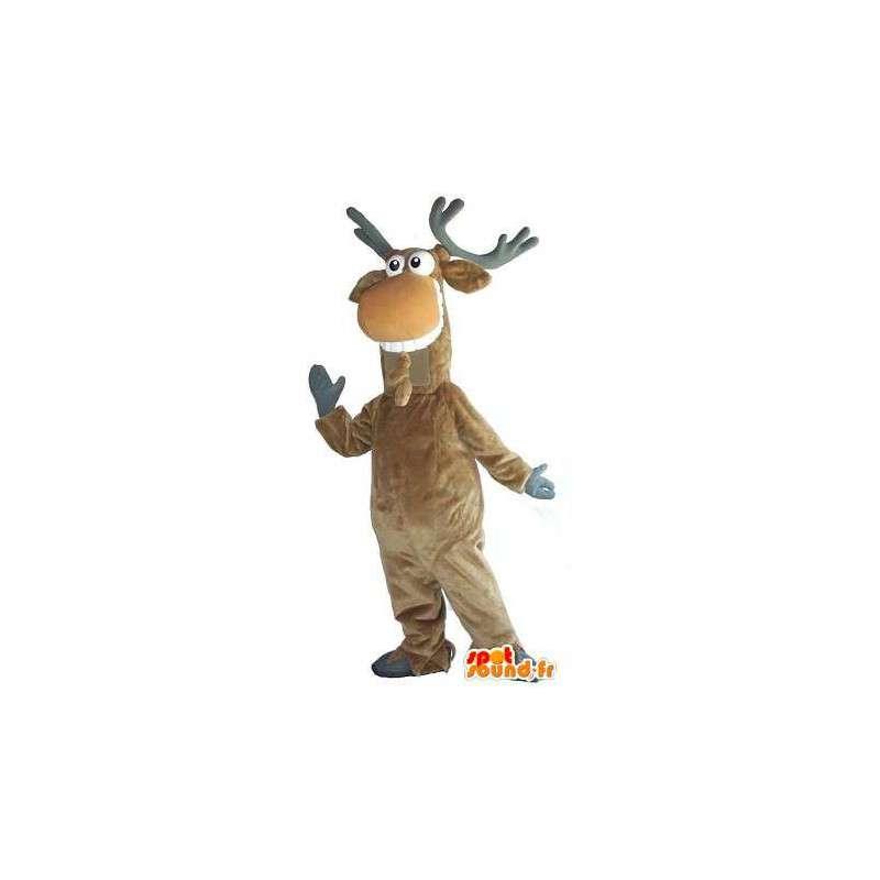 Maskottchen-Kostüm Weihnachten Rentier Grinsen - MASFR001743 - Weihnachten-Maskottchen