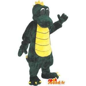 Mascot wat neerkomt op een draak, fantastische dier vermomming