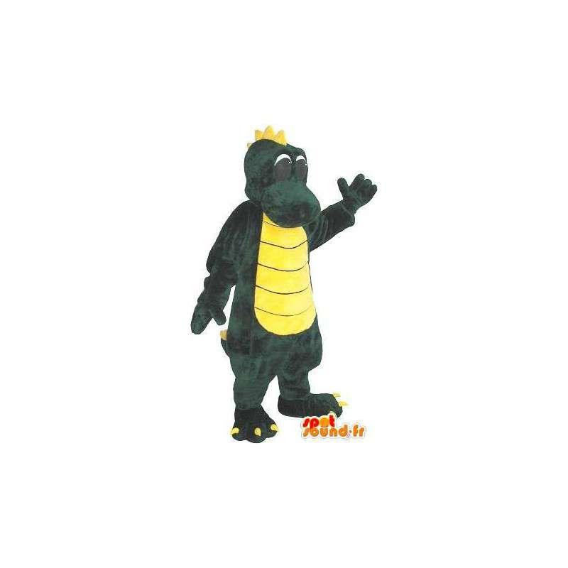 Mascot wat neerkomt op een draak, fantastische dier vermomming - MASFR001745 - Dragon Mascot