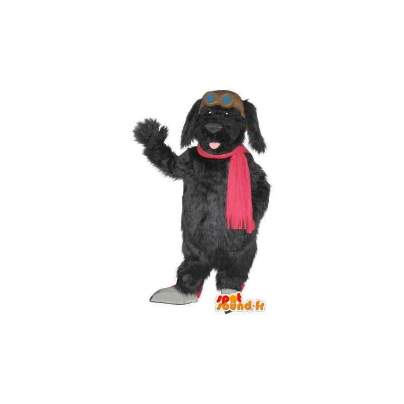 Mascot wat neerkomt op een pluche hond, hond kostuum - MASFR001746 - Dog Mascottes