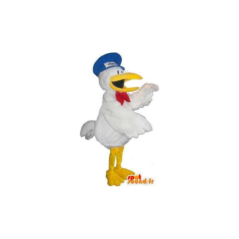 Toucan Mascot tekijä holding lintu valepuvussa - MASFR001747 - maskotti lintuja