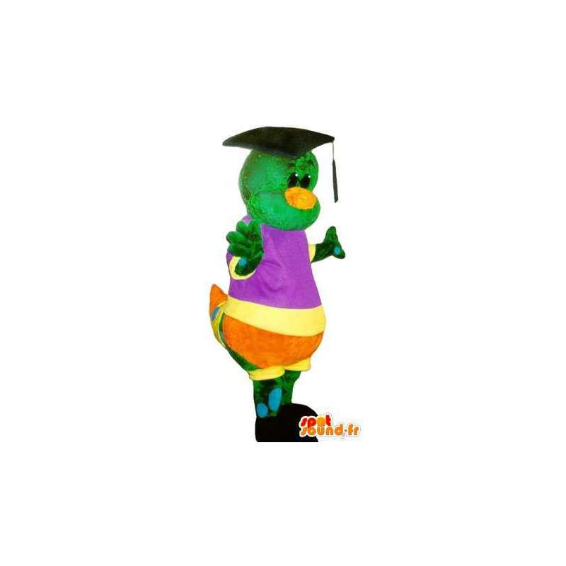 Graduate rups mascotte, kleurrijk insect vermomming - MASFR001748 - mascottes Insect