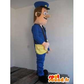 Mascotte Homme Facteur La Poste - Déguisement postal - Envoi rapide - MASFR00156 - Mascottes Homme