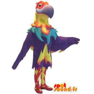 Águila rapaz-mascota como ave fénix traje
