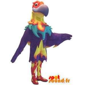 Kotka maskotti joka näyttää Phoenix, raptor puku
