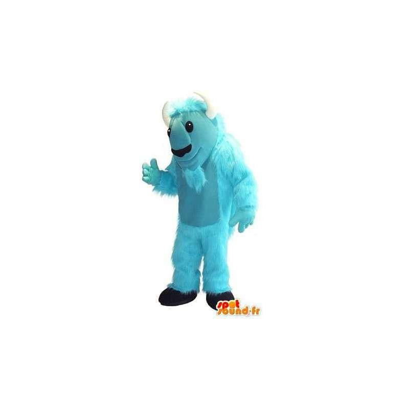 Mascot representerer en blå geit, gård forkledning - MASFR001750 - Maskoter og geiter Geiter