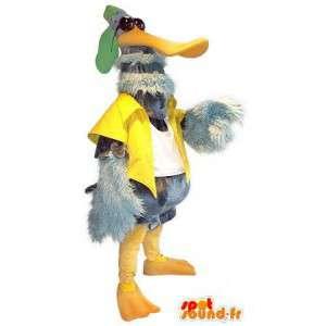 Mascotte de canard au look de star, déguisement de canard