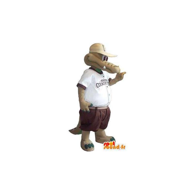 Crocodile mascot costume in shorts - MASFR001752 - Mascot of crocodiles