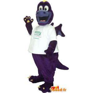 Dragon with wings mascot, animal costume fantastic