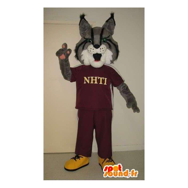 Mascotte de loup en jogging, déguisement de sportif - MASFR001754 - Mascottes Loup