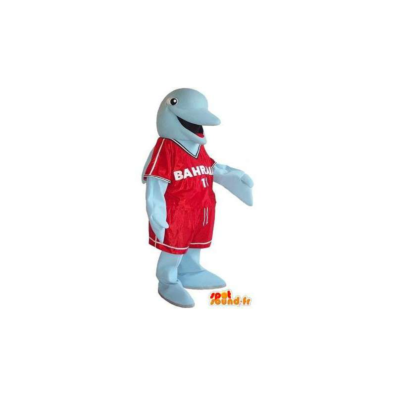 Dolphin Mascot urheilullinen porukka, ottelu naamioida - MASFR001755 - Dolphin Mascot