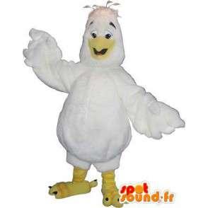 Maskot liten vit kyckling, kyckling förklädnad - Spotsound