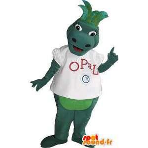Green strap mascot costume imaginary animal