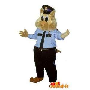 Mascotte de chouette policière, déguisement flic new-yorkais