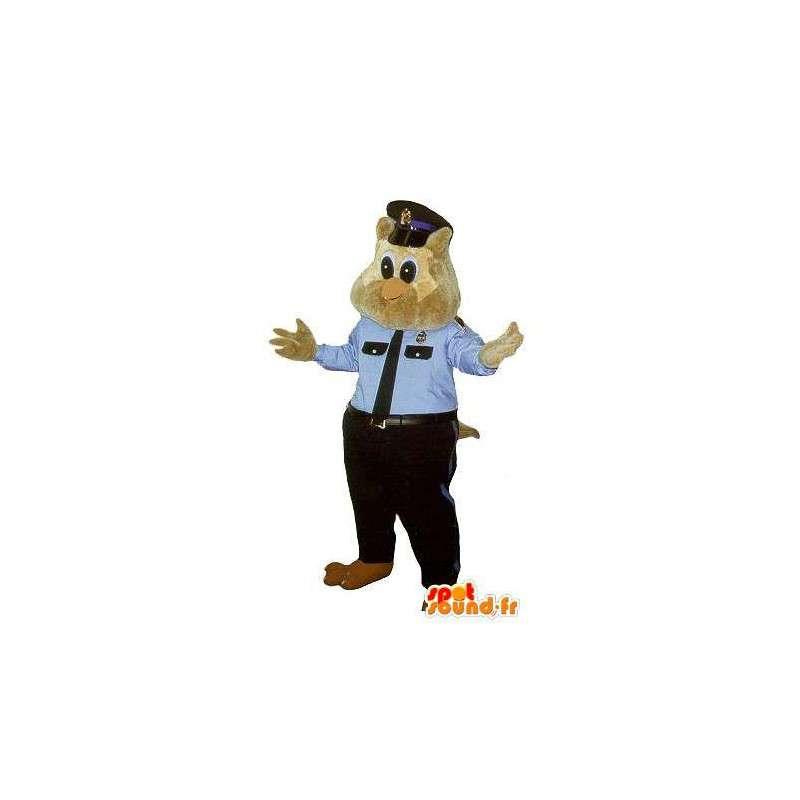Politie uil mascotte kostuum agent in New York - MASFR001760 - Mascot vogels