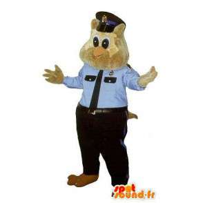 Mascot owl police costume cop in New York - MASFR001760 - Mascot of birds