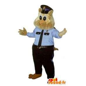 Mascotte de chouette policière, déguisement flic new-yorkais - MASFR001760 - Mascotte d'oiseaux