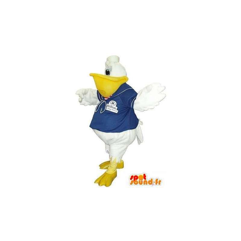 Mascotte de toucan en tenue de marin, déguisement d'oiseau marin - MASFR001761 - Mascotte d'oiseaux