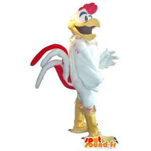 雄鶏のマスコットのようなロックスターの衣装のロックンロール