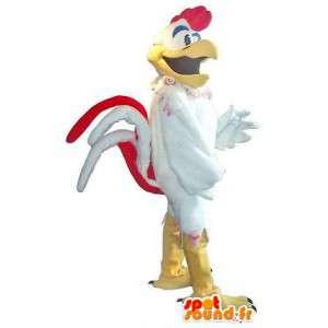 Gallo-mascota como estrella de rock traje de rock & roll
