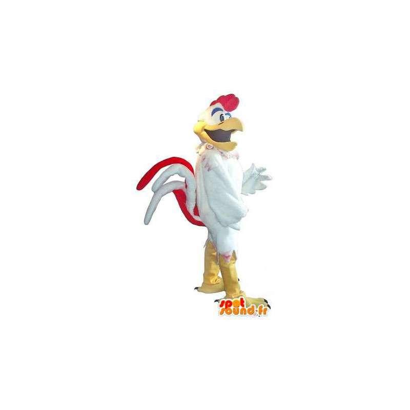 Hahn-Maskottchen-Kostüm wie Rockstar Rock & Roll - MASFR001762 - Maskottchen der Hennen huhn Hahn