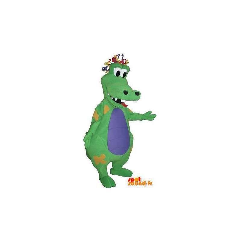 Mascotte de crocodile rigolo, déguisement de clown - MASFR001764 - Mascotte de crocodiles