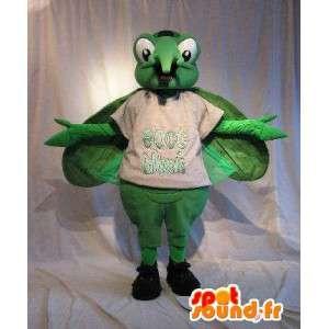 Mascotte de moustique vert, déguisement d'insecte