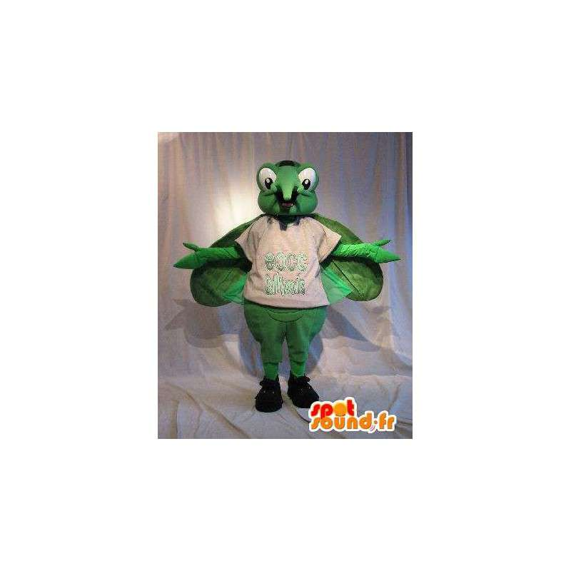 Mosquito mascot green insect disguise - MASFR001766 - Mascots insect