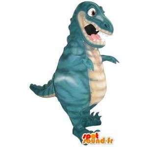 Mascota dragón malvado y feroz disfrazado