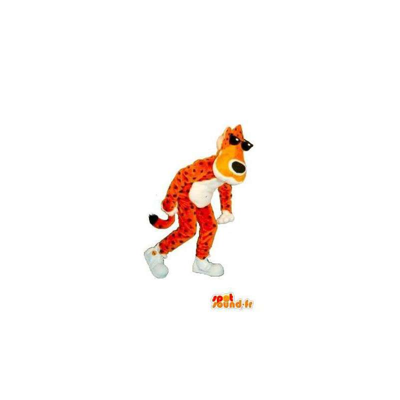 Mascot leopard sunglasses, costume cat - MASFR001767 - Tiger mascots