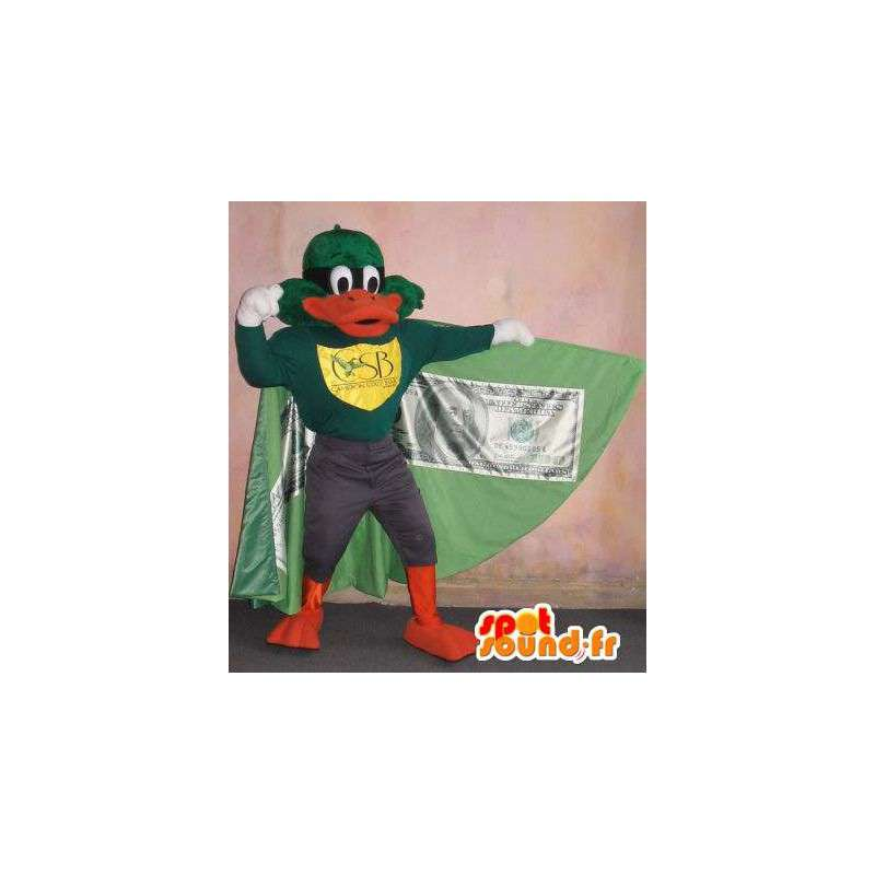 Duck mascot vigilante in a cape, superhero costume - MASFR001769 - Ducks mascot