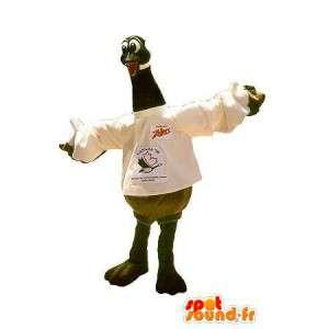 Mascotte d'oie, déguisement d'oiseau domestique