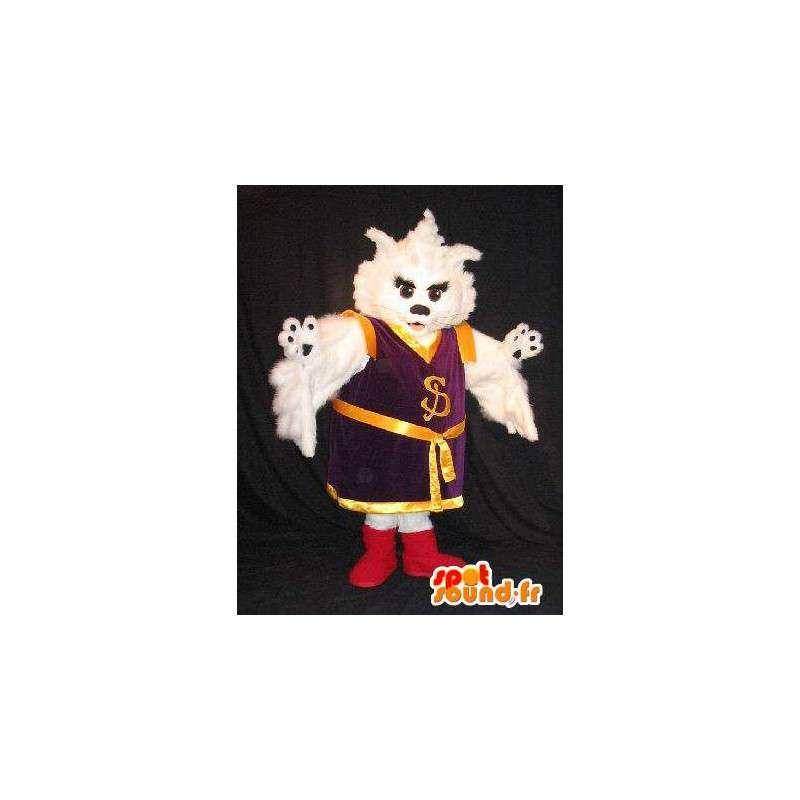 Maskottchen-Katze in Kung Fu asiatische Tracht - MASFR001771 - Katze-Maskottchen