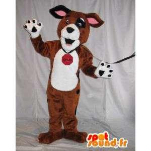 Hond pluche mascotte, hond kostuum