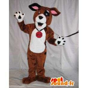 Plüsch Maskottchen Kostüm Hund Hund - MASFR001789 - Hund-Maskottchen