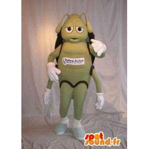 Ant mascotte che rappresenta un travestimento verde formica