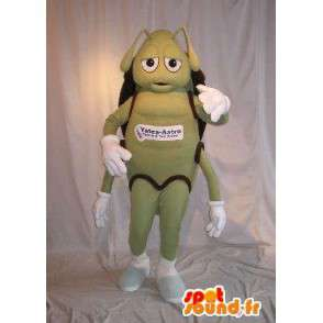 Maskotti edustaa vihreää muurahainen, muurahainen naamioida - MASFR001790 - Ant Maskotteja